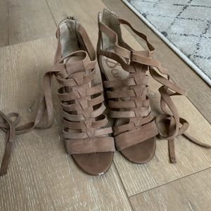 Sam Edelman Lace Up Block Heels